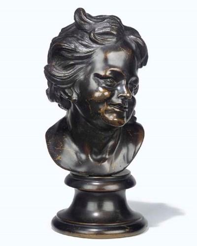 An English bronze bust of a gi