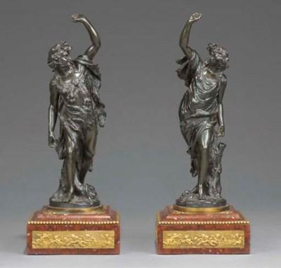 A pair of Napoleon III bronze