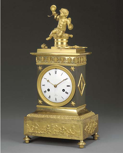 A gilt and patinated bronze ma