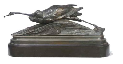 A French bronze model of a her