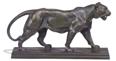 A French bronze model of the T