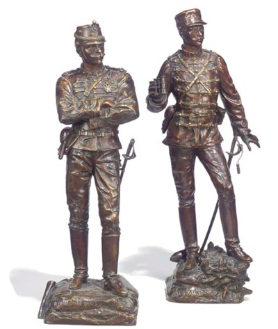 Two French bronze figures of i