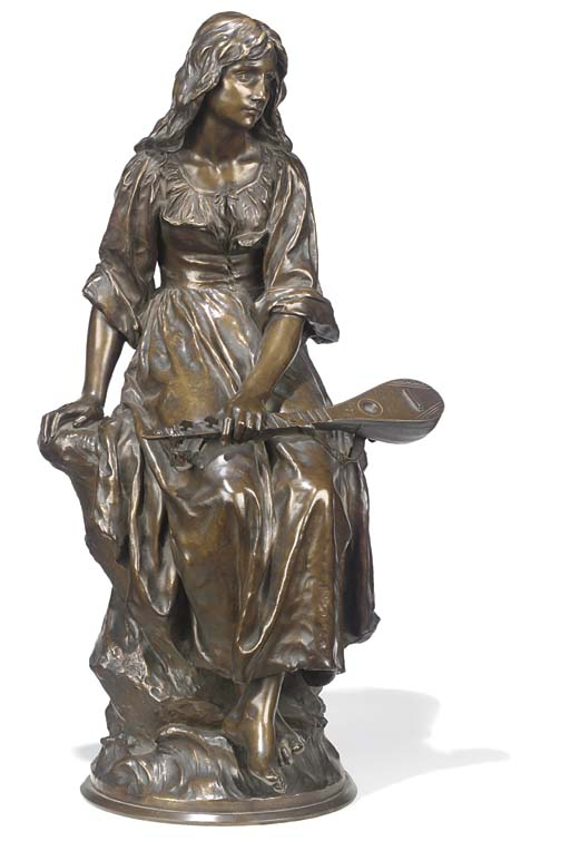 A French bronze figure of Mign