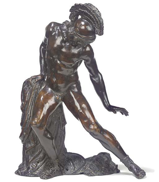 A bronze figure of a Roman cen