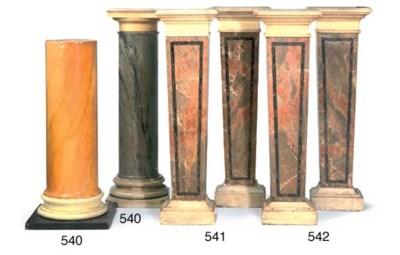 A Siena Scagliola pedestal col