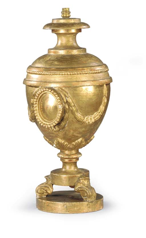 A giltwood reliquary urn ADAPT