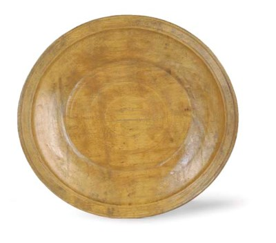AN OVAL SYCAMORE SHALLOW BOWL