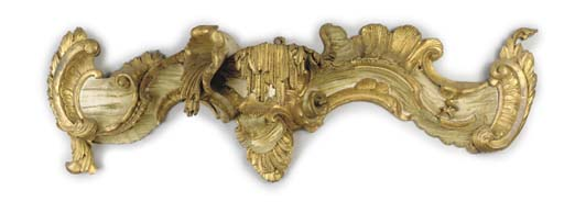 A CARVED AND GILT-WOOD AND LAT