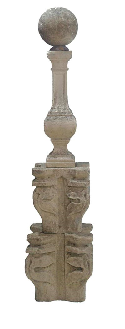 A STONE SPIRE FINIAL IN THE GO