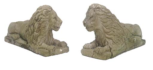 A PAIR OF RECONSTITUED STONE M