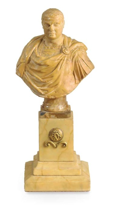 An Italian Siena marble bust o