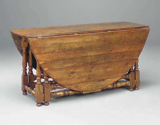 A yewwood gateleg table