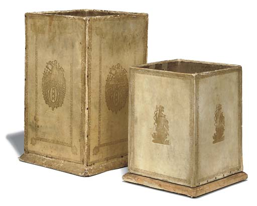 TWO ITALIAN VELLUM COVERED WAS