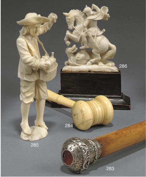 A George III ivory gavel