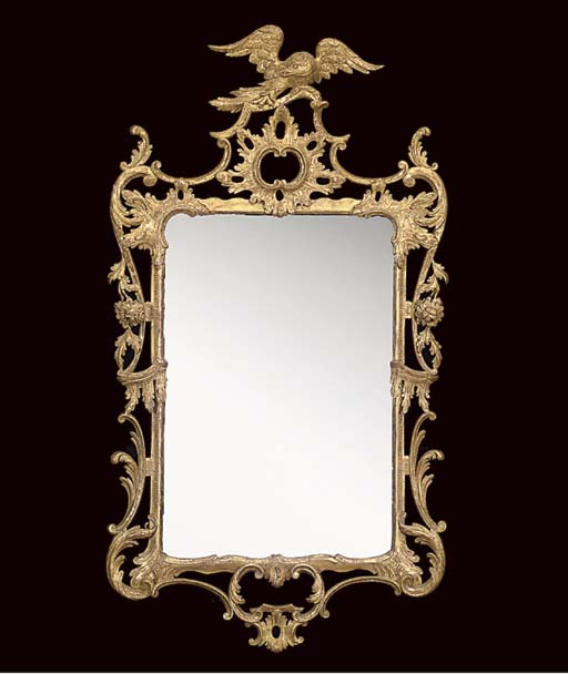 A GILTWOOD FRAMED MIRROR