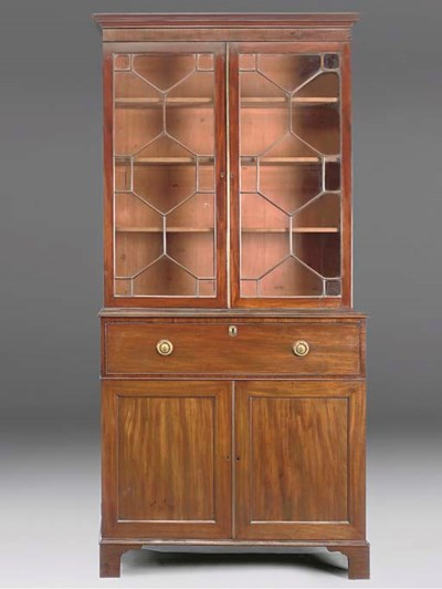 A Regency secretaire bookcase