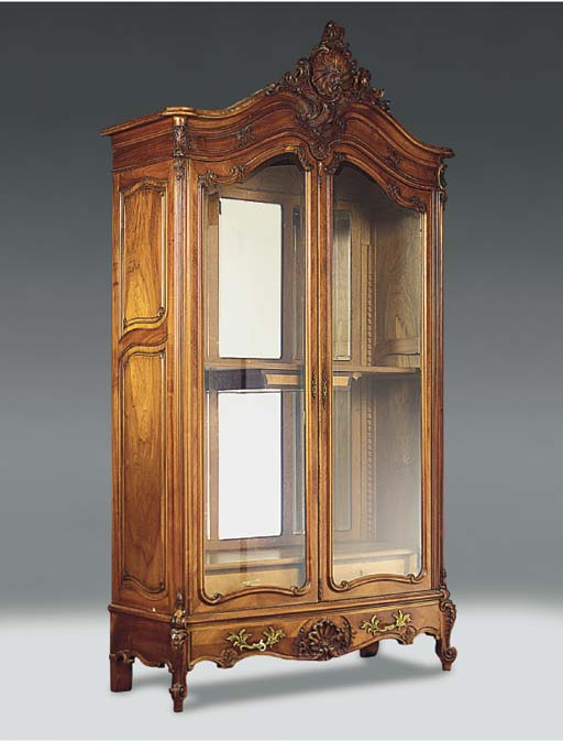 A FRENCH WALNUT ARMOIRE