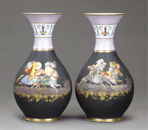A PAIR OF CONTINENTAL BALUSTER