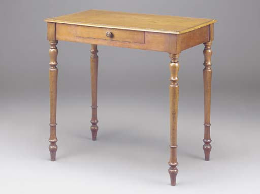 A FRENCH MAHOGANY SIDE TABLE
