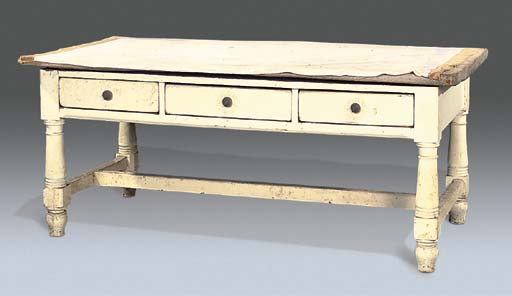 A LATE VICTORIAN WHITE PAINTED