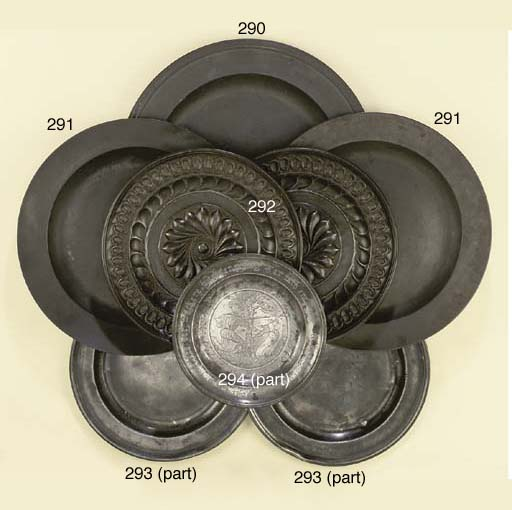 A COLLECTION OF THREE BRISTOL PEWTER DISHES