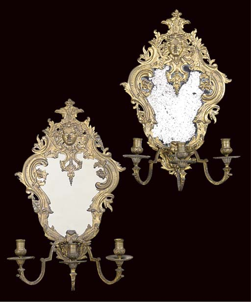 A PAIR OF FRENCH GILT-BRASS TH