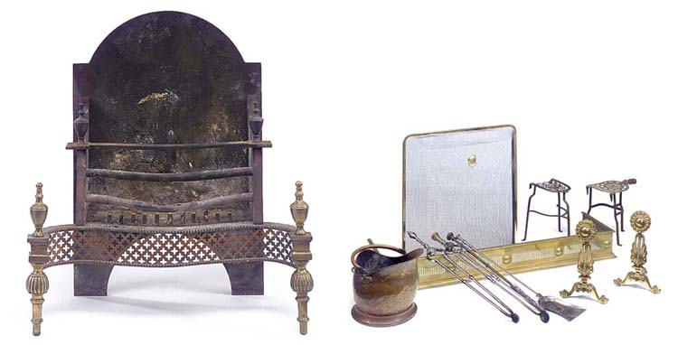 A LATE VICTORIAN BRASS AND IRO