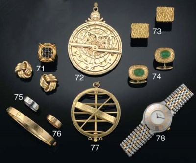 An 18ct. gold novelty pendant
