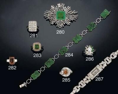An Art Deco jade bracelet