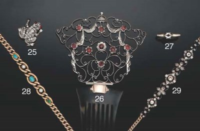 A late Victorian diamond and r