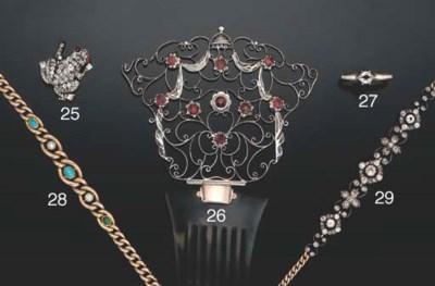 A Victorian diamond bracelet/n