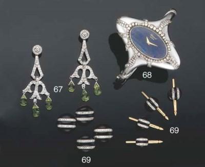A diamond-set bangle watch by