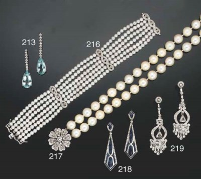 A two strand cultured pearl an