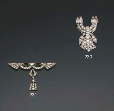 An Egyptian revival diamond cl