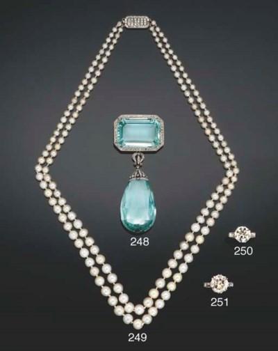 A Belle Epoque aquamarine and