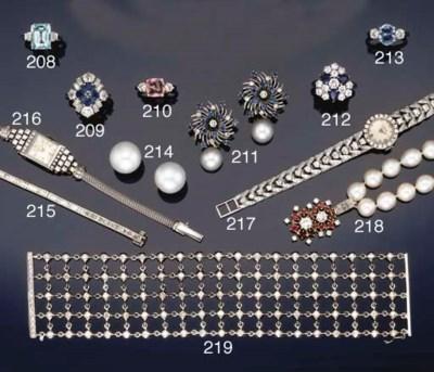 A lady's diamond set wristwatc