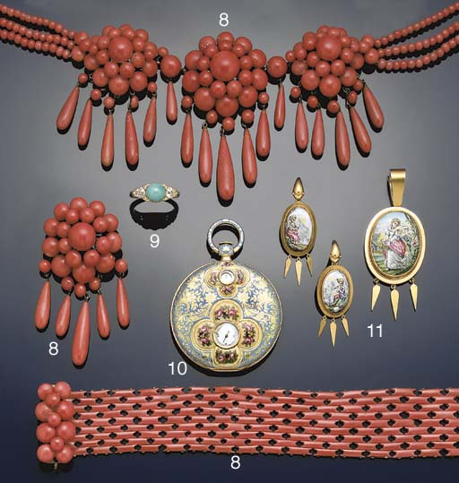 A suite of 19th century coral