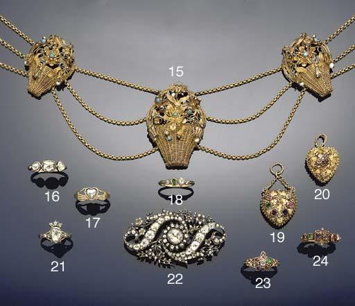 A 19th century diamond and gem