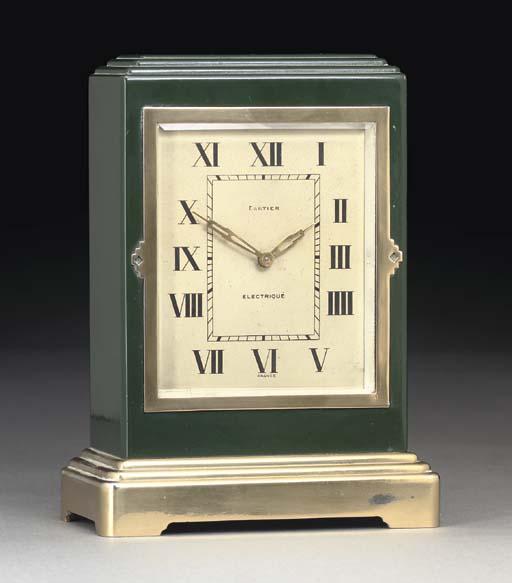 An electric desk clock by Cart