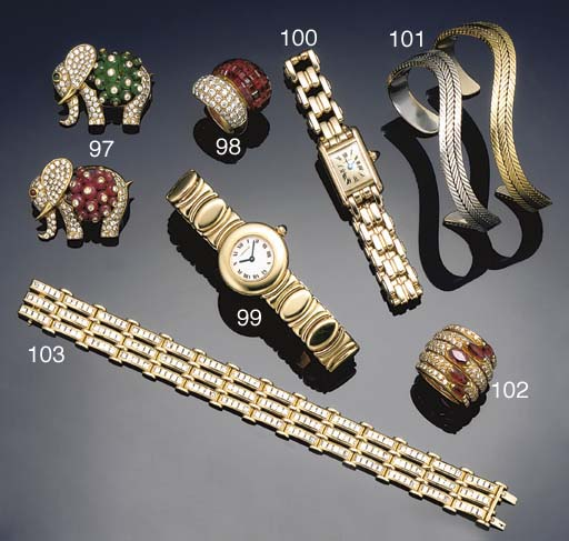 A diamond triple line bracelet