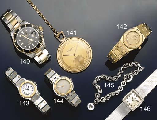 A gentleman's bi-metallic, Oyster Perpetual Date Submariner automatic calendar wristwatch by Rolex, Ref:16613