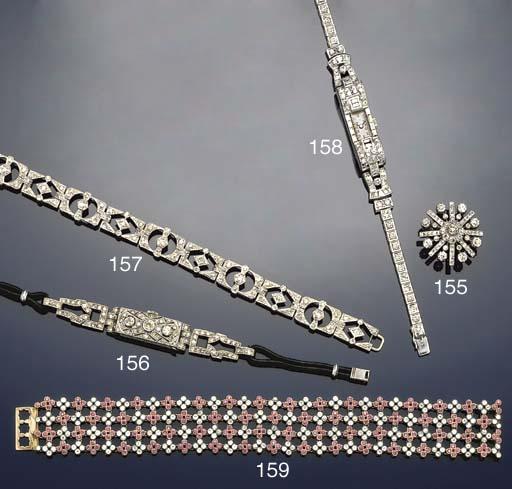 A lady's Art Deco diamond wris