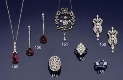A tourmaline and diamond penda