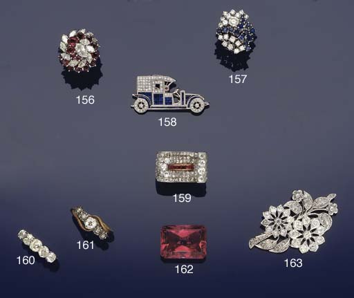 A sapphire and diamond vintage