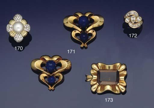 A pair of lapis lazuli clips