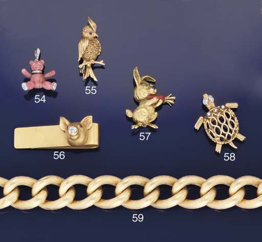 A gem set novelty money clip