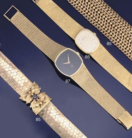 Two fancy link bracelets