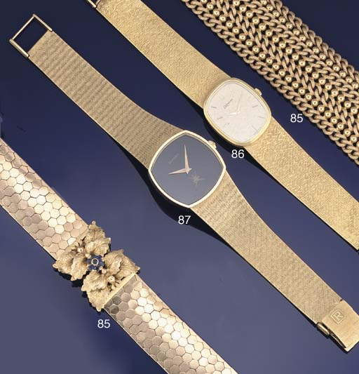 A lady's 18ct. gold wristwatch by DeLaneau