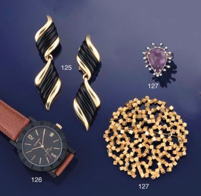 A BROOCH AND RING BY JOHN DONA