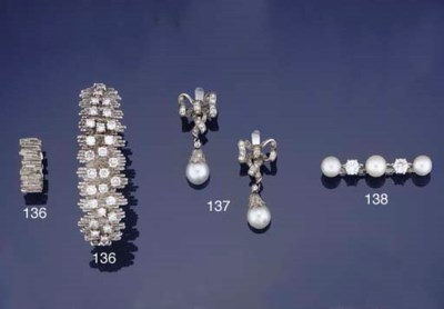 A diamond and cultured pearl b